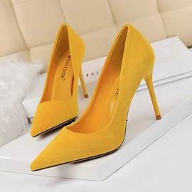 Ericdress Stiletto Heel Pointed Toe Slip-On Ultra-High Heel(≥8cm) Thin Shoes