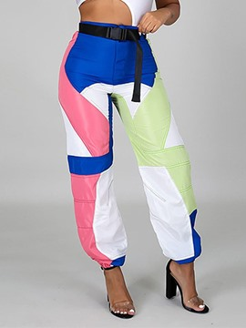 Ericdress Color Block Polyester Female Full Length Pants