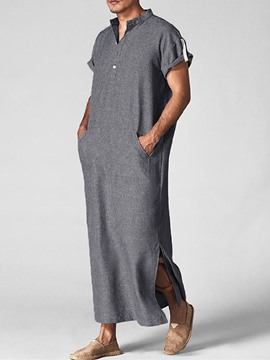 Ericdress Pocket Plain Straight Summer Shirt