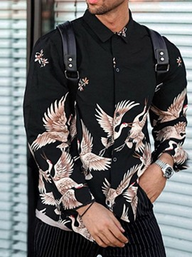 Ericdress Lapel Print Animal Loose Single-Breasted Shirt