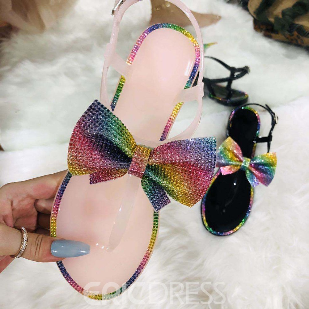 Ericdress Open Toe Flat With Buckle Casual Sandals