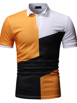 Ericdress Polo Neck Color Block Men's Polo Shirt