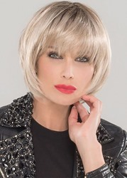 Ericdress Natural Looking Womens Short Bob Hairstyle With Bangs Straight Synthetic Hair Capless Wigs 10Inch
