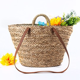 Ericdress Knitted Grass Barrel-Shaped Women's Tote Bags