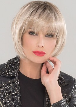 Ericdress Natural Looking Women's Short Bob Hairstyle With Bangs Straight Synthetic Hair Capless Wigs 10Inch