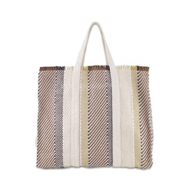 Ericdress Stripe Polyester Tassel Rectangle Tote Bags
