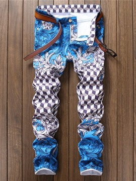 Ericdress Print Plaid Thin Zipper Four Seasons Casual Pants