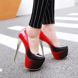 Ericdress Stiletto Heel Square Toe Platform Gradient Thin Shoes