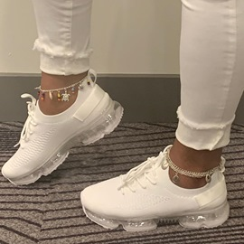 Ericdress Round Toe Lace-Up Lace-Up Plain Sneakers