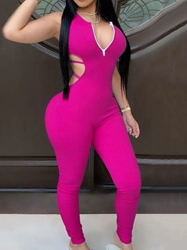 Ericdress Full Length Plain Sexy Pencil Pants Skinny Jumpsuit