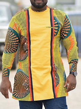 Ericdress Print Slim African Fashion Dashiki Fall Shirt
