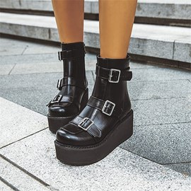 Ericdress Round Toe Side Zipper Plain Women's Casual Boots
