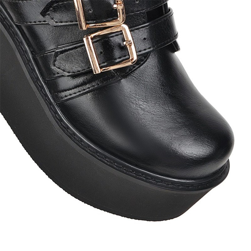 Ericdress Round Toe Side Zipper Plain Casual Boots