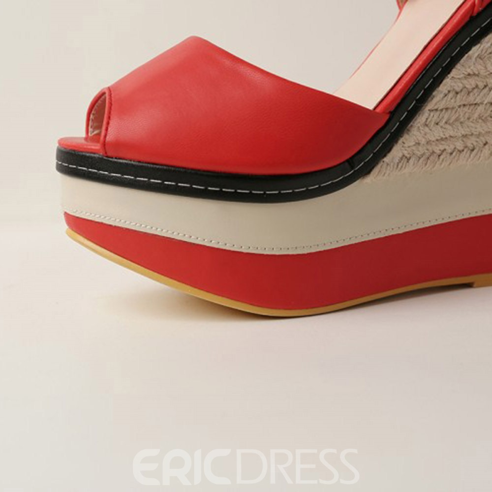 Ericdress Wedge Heel Closed Toe Platform Low-Cut Upper Thin Shoes