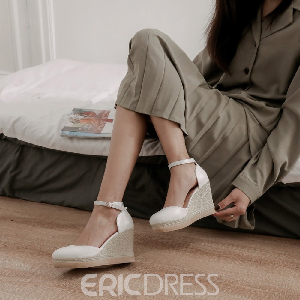 Ericdress Closed Toe Buckle Buckle Low-Cut Upper Thin Shoes