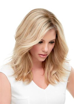 Ericdress Natural Looking Women's Medium Hairstyles Wavy Synthetic Hair Lace Front Wigs 16Inch