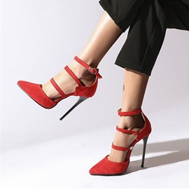 Ericdress Buckle Pointed Toe Casual Thin Shoes