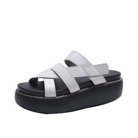 Ericdress Thread Slip-On Cross Plain Slippers