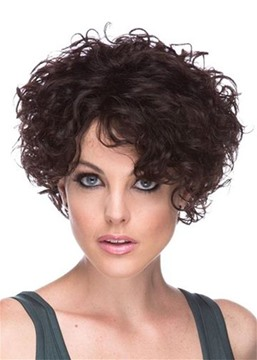 Ericdress Women's Short Curly Natural Looking Hairstyles Afro Curly Synthetic Hair Capless Wigs 10Inch