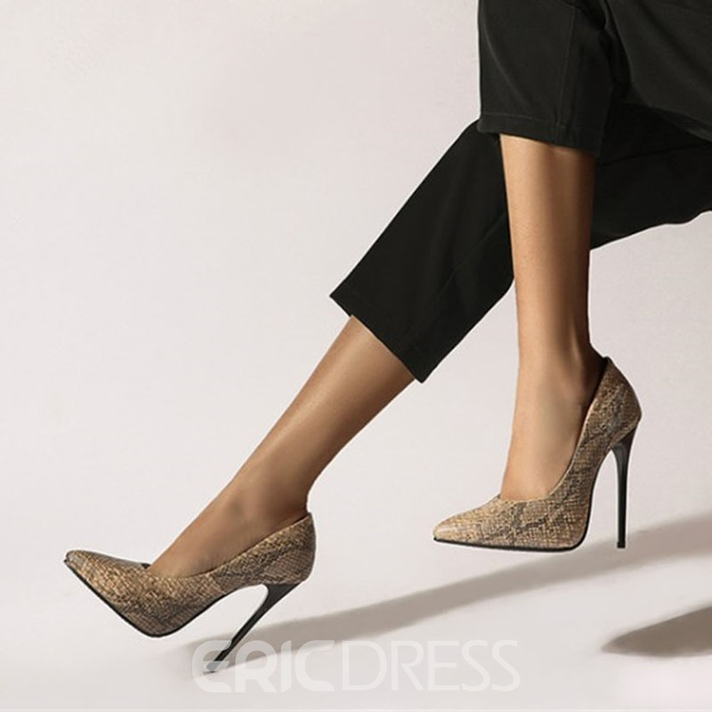 Ericdress Pointed Toe Slip-On Serpentine Casual Thin Shoes
