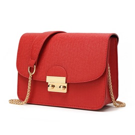 Ericdress PU Plain Chain Rectangle Crossbody Women's Bags