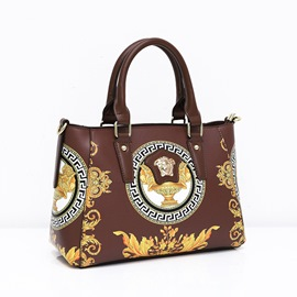 Ericdress PU Thread Floral Rectangle Tote Bags