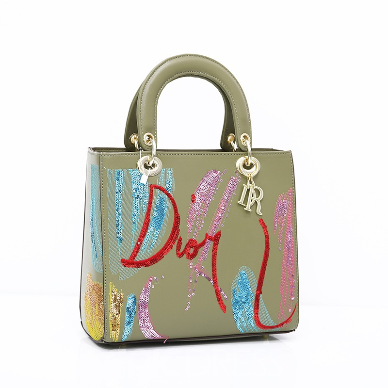 Ericdress Letter Sequins PU Rectangle Tote Bags