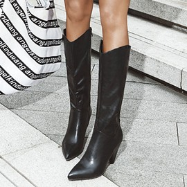 Ericdress Cone Heel Side Zipper Plain Korean Boots