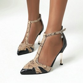 Ericdress Stiletto Heel Buckle Pointed Toe 9cm Thin Shoes