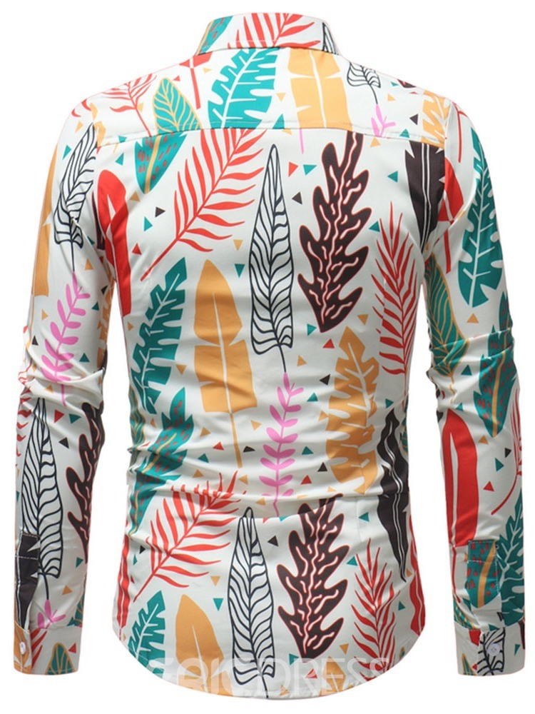 Ericdress Floral Print Lapel Fall Single-Breasted Shirt