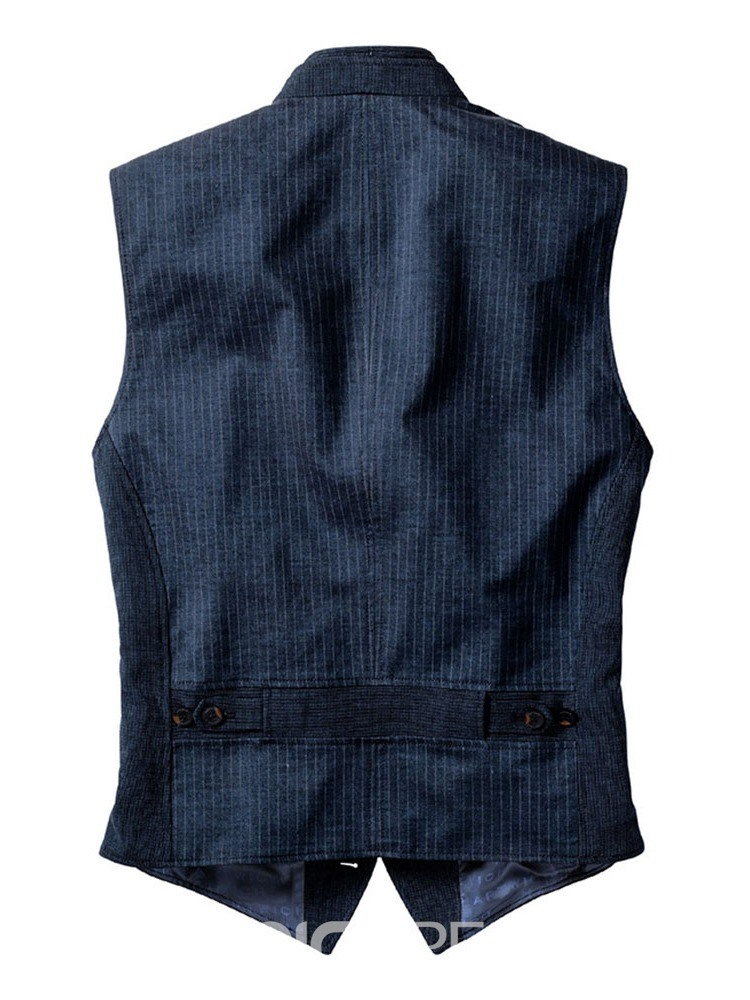 Ericdress Plain V-Neck European Fall Waistcoat