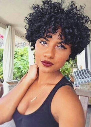 Ericdress Natural Looking Short Deep Culry Synthetic Hair Capless Wigs For African American Women 8Inch