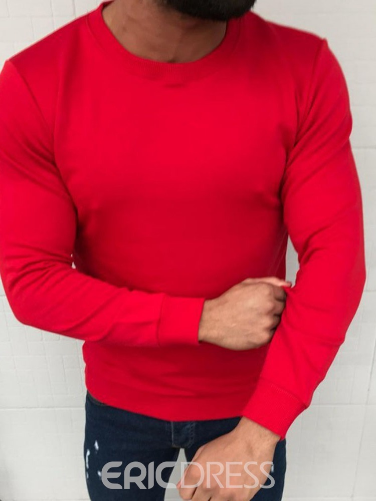 Ericdress Plain Pullover Round Neck Pullover Hoodies