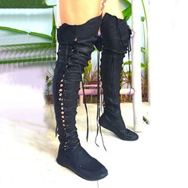 Ericdress Plain Round Toe Side Zipper Western Boots