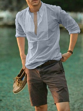 Ericdress Casual Plain Fall Slim Shirt
