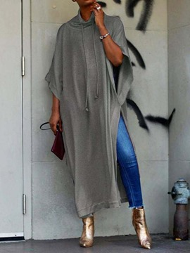 Ericdress Plain Batwing Sleeve Patchwork Long Fall Hoodie