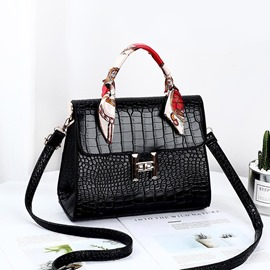 Ericdress PU Lock Alligator Rectangle Tote Bags