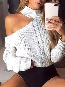 Ericdress Regular Asymmetric Loose Long Sleeve Sweater