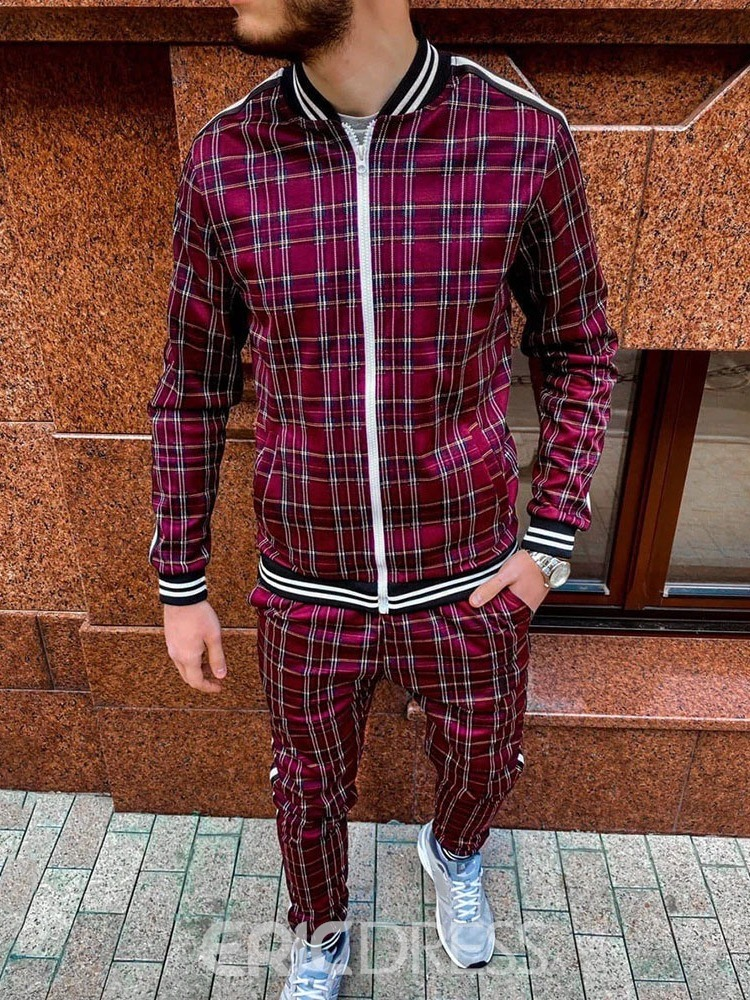 Ericdress European Plaid Pants Spring Outfit