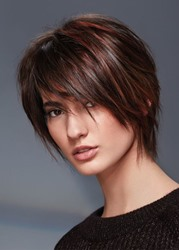 Ericdress Womens Short Shaggy Hairstyles Straight Human Hair Capless Wigs With Bangs 10Inch