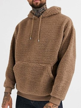 Ericdress Thick Pullover Plain Hooded Loose Hoodies