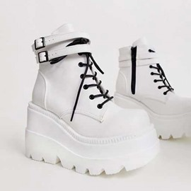 Ericdress Round Toe High-Cut Upper Cross Strap Casual Sneakers