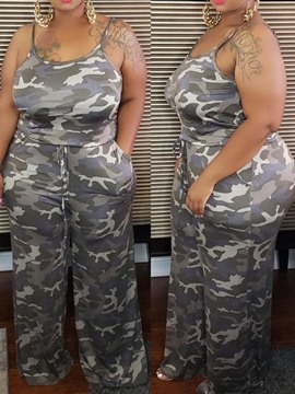 Ericdress Camouflage Pants Western Pullover Two Piece Sets