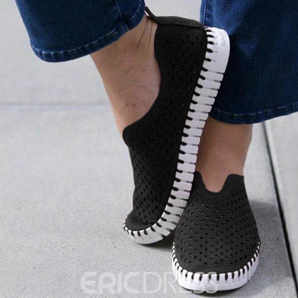 Ericdress Flat With Thread Round Toe Flat Heel(≤1cm) Thin Shoes