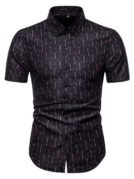 Ericdress Print European Lapel Single-Breasted Summer Shirt