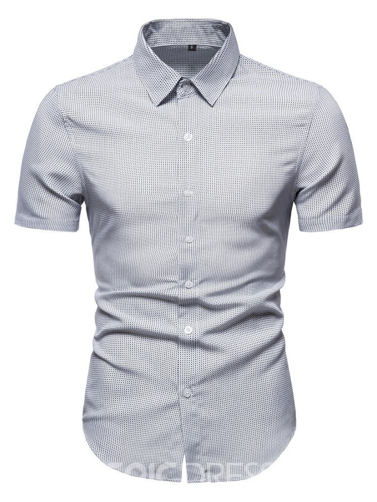 Ericdress Houndstooth Lapel European Slim Single-Breasted Shirt