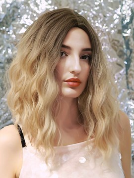 Ericdress 130% Density Women's Water Wave Synthetic Hair Simulated Big Scalp Breathable Capless Wigs 16Inch
