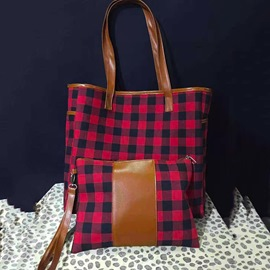 Ericdress Thread Plaid Polyester Rectangle Tote Bags
