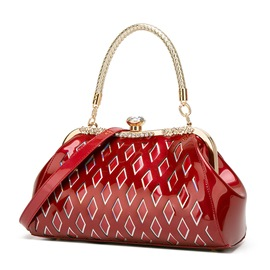 Ericdress PU Embossing Plaid Rectangle Tote Bags