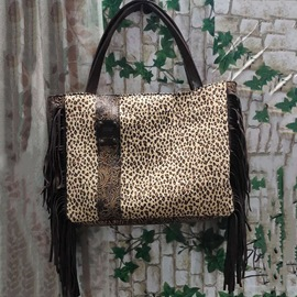 Ericdress Thread Canvas Leopard Rectangle Tote Bags